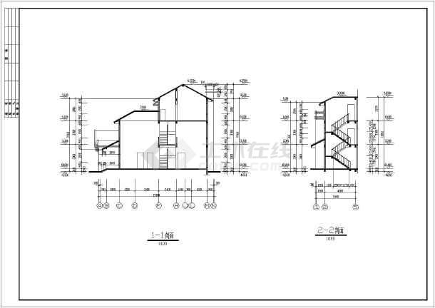 点击查看某三层别墅建筑设计图(长15.8米 宽14米)第6张大图