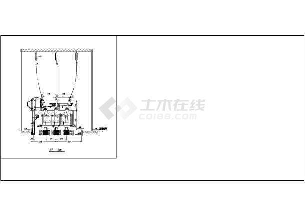 【柳州市】某小区屋外主变压器安装接线图纸