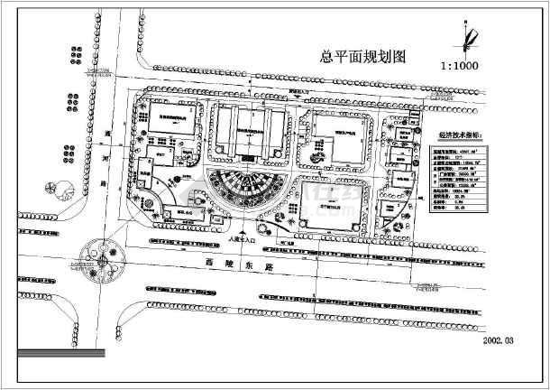【cad平面图】某城市药厂总平面规划设计cad平面图__