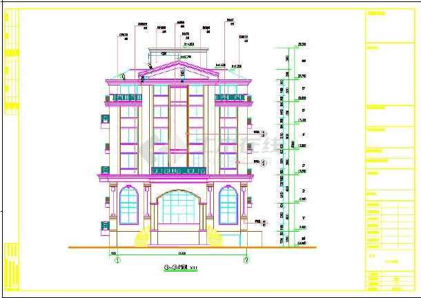 大利风格豪华六层楼房建筑设计图图片1-天津意大利风情街