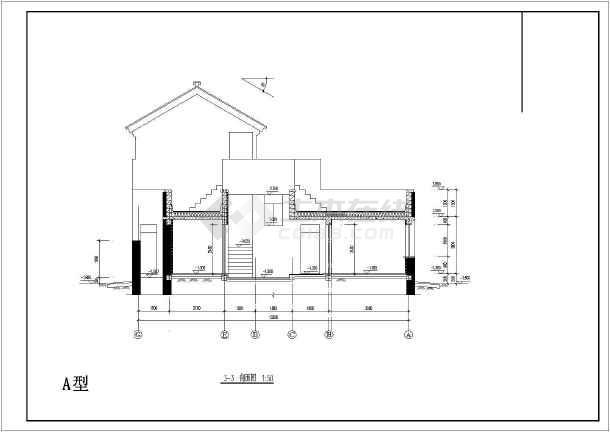 某小区二层新农村别墅设计图 共5张