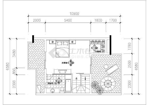 时尚两居户型复式楼方案设计图(蝶舞飞扬户型),图纸包括各层平面布置