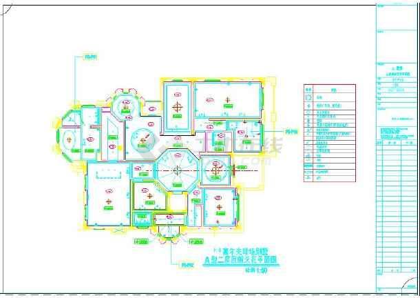 简欧a别墅高尔夫别墅室内设计施工图(含效果图别墅非普通图片