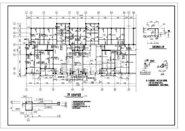 某六层砖混坡屋面住宅结构设计施工图