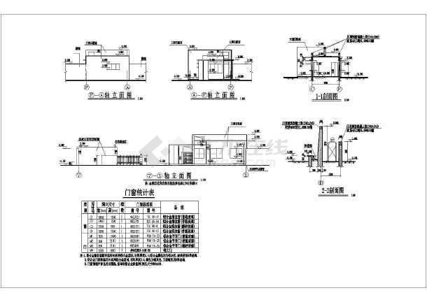 该工程为南方某地变电站大门结构设计施工图,内容包含基础平面布置图片