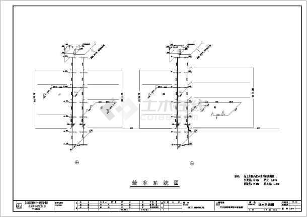 六层职工宿舍建筑给排水专业设计图纸