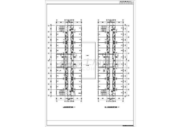 某六层洗浴中心风机盘管空调设计图