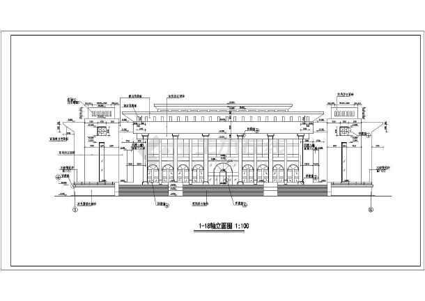 新疆某大学2层框架结构礼堂建筑设计施工图