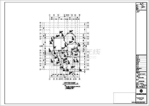 深圳某两层框架结构别墅全套建筑施工图