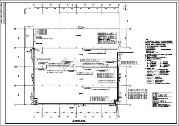 图纸 电气图纸 工业建筑 仓库库房建筑电气设计施工图 安徽芜湖某一层