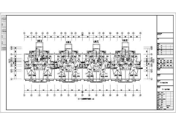 某地区的十五层定向安置房电气图纸全套_cad减速器图纸壳体图片