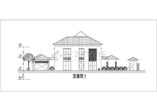 某两层框架结构独栋别墅建筑设计方案图纸