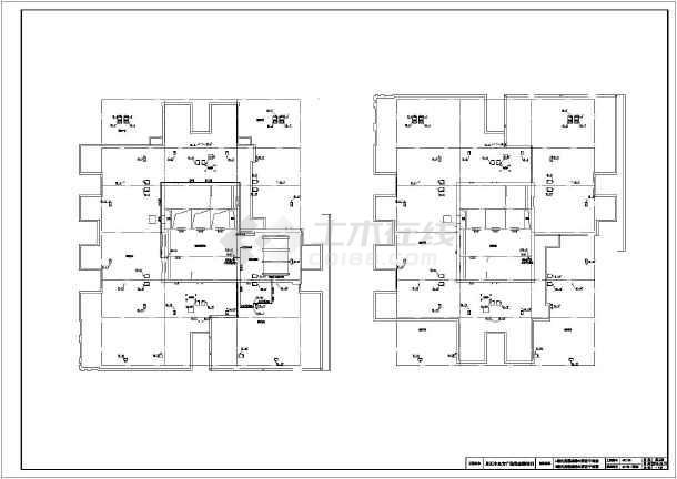 某房屋给排水平面图纸布置图_cad商场下载v房屋系统狗狗图纸图片
