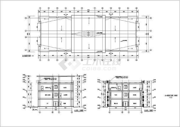 楼三层办公楼图纸三层办公楼cad三层办公楼设计图三层办公楼平面图