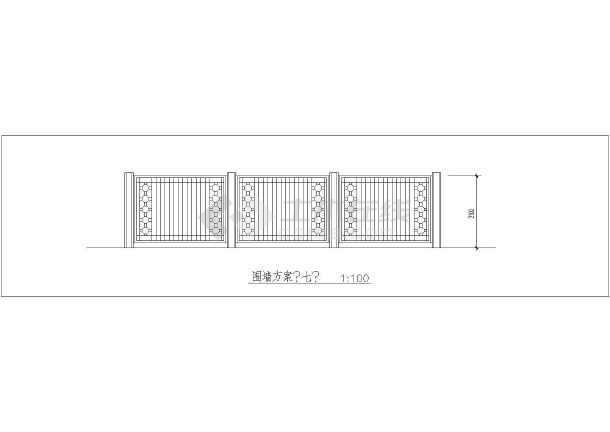 园林设计图 小品及配套设施 围墙大门设计图 100多种景观围墙大全施工