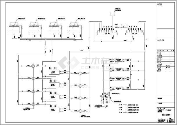 某地大型百货商场螺杆冷水机组中央空调设计施工图图片2
