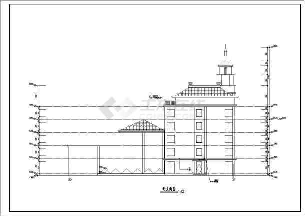 某地五层休闲会所带地下游泳池建筑设计方案图片