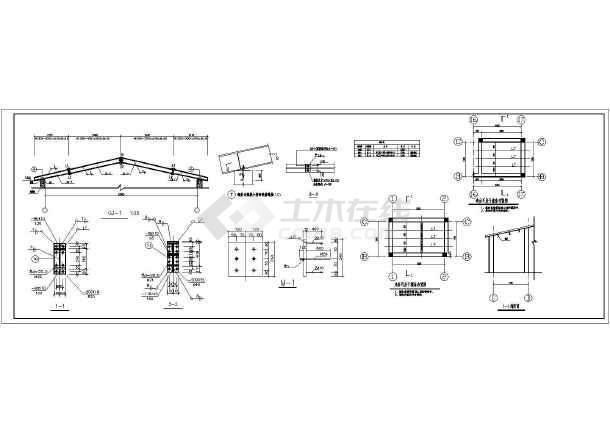新疆某单层轻钢屋面养鸡场鸡舍结构施工图