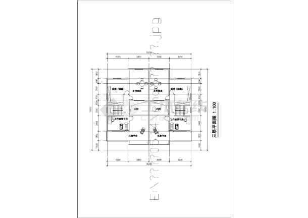 某三层四房三厅住宅楼建筑设计图(竞赛房型)_cad图纸