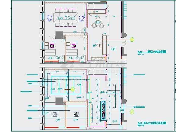 泽森办公室装修设计工程cad平面图纸图片2