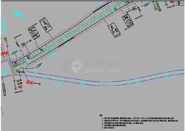 道路交通山水图纸cad施工图(招标设施、文件及崀图纸工程库图片