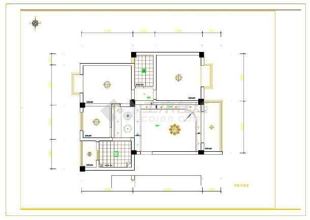 三室两厅简约风格装修设计施工图纸