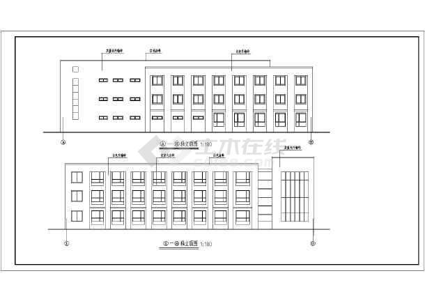 某单位三层砖混结构办公楼给排水消防设计图
