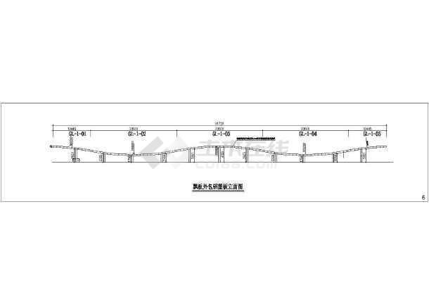 图纸 建筑结构图 钢结构图纸 桁架结构 某大学附属医院屋顶钢结构飘板