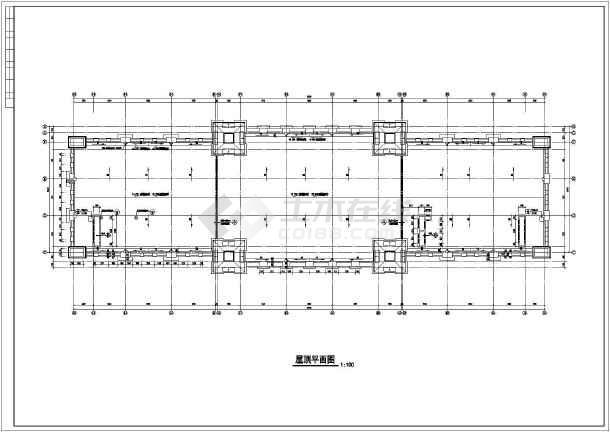 某三层框架结构欧式酒店建筑设计施工图