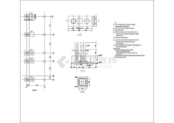 某地小型高炉易地加固结构设计施工图