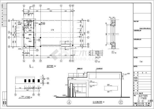 建筑设计说明,首层平面图,屋顶平面图,各立面图,各剖面图,节点大样,门