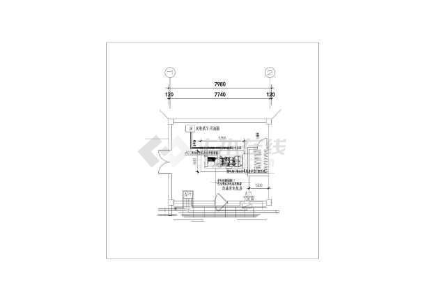 变电所及柴油发电机房电气一次图纸图片