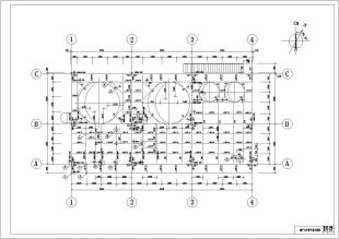 某地区钢结构花纹(钢结构+钢板平台)结构图图纸像真机图片