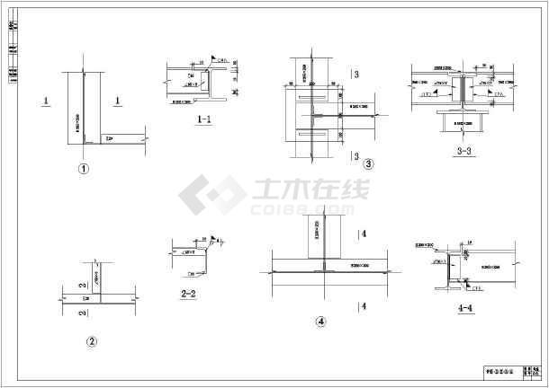某地区钢结构花纹(钢结构+钢板平台)结构图_c图纸德国ind图片