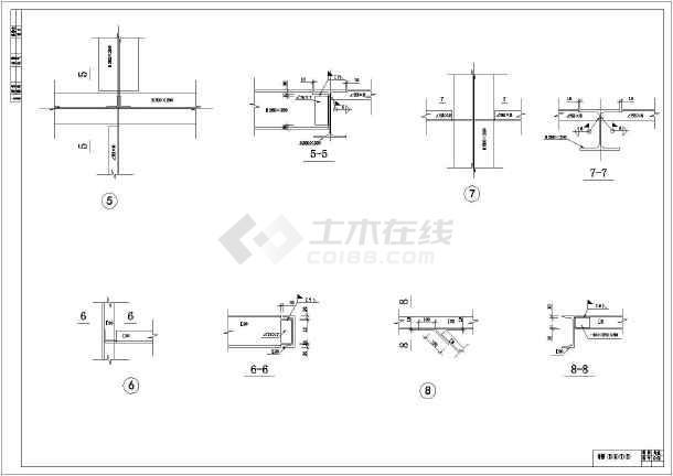 某地区钢结构花纹(钢结构+钢板平台)结构图_cjd-图纸图片