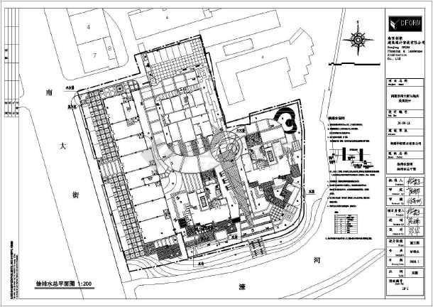 南通市南大街7A地块景观设计施工图_cad图纸船舶设计浙江省审核图纸图片