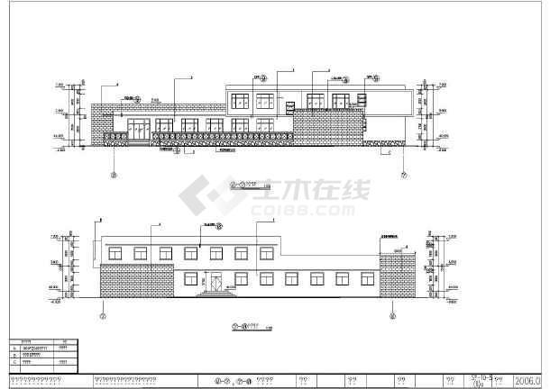 某地两层框架结构高速公路收费站用房建筑施工图