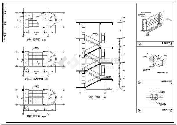 各种大样节点及阳台图纸类型构造图_cad栏杆冷弯cad运用图片