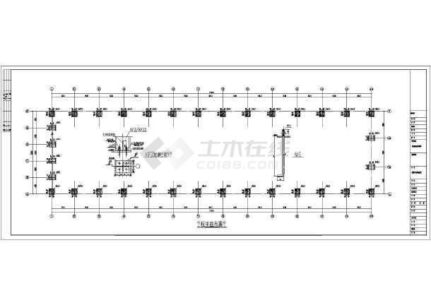 某轻型门式刚架结构汽车维修车间结构施工图(含建筑设计)图片2