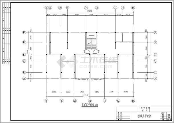 某地六层砖混结构住宅楼建筑设计方案图