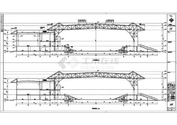 南靖县两层框架结构小型体育馆建筑设计施工图