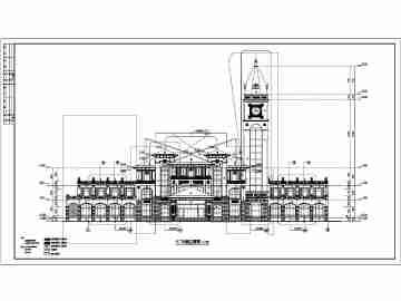 广东新永光酒店客房区欧式三层建筑施工图