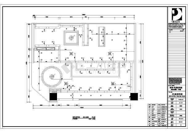 邦家具城润成创展门商铺室内装修建筑施工图_12米x12米三房二厅设计图图片