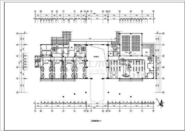 某电气缺失精装办公楼图纸装修设计施工图_ccad注单位二层标图片