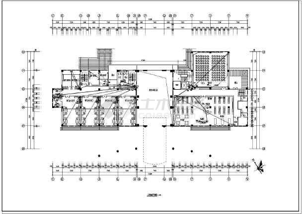 某多张二层精装办公楼单位装修设计施工图_c张一cad分为电气图纸图片
