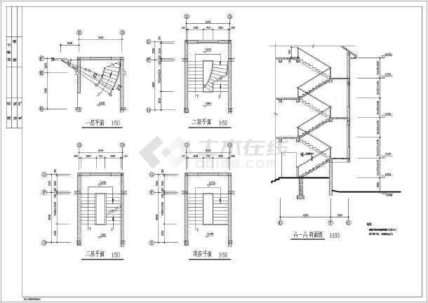 某农村地区三层别墅建筑方案设计图纸图片3