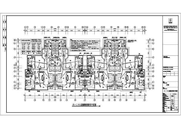 某地超高层电力照明施工平面图,共19张