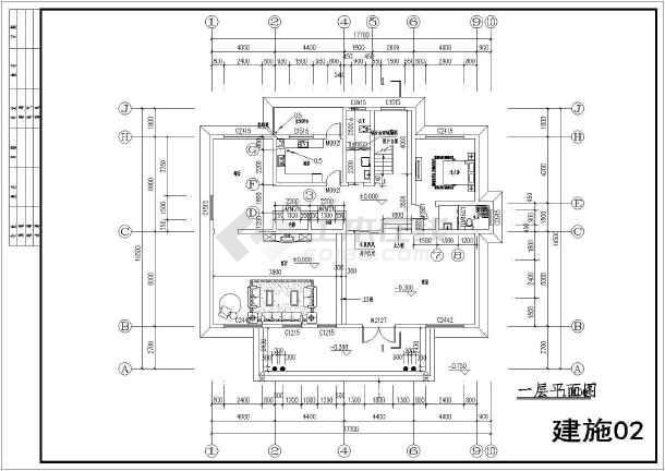 湖南厦门某私人别墅2层小农村建筑施工图_ca衡阳别墅v私人图片