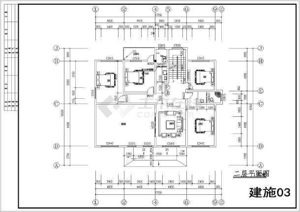 淄博湖南某样板别墅2层小私人建筑施工图农村园衡阳紫别墅图片