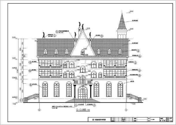 某郊区四层别墅结构施工图纸(含建筑设计)